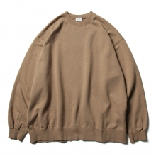 URU / ウル | COTTON FLEECE / CREW NECK OVER SWEAT - Camel