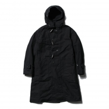 【Point 10% 9/29まで】ENGINEERED GARMENTS | Duffle Coat - Cotton Double Cloth - Black