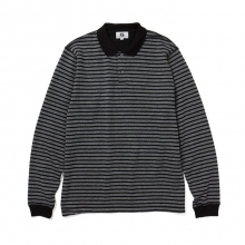 GOODENOUGH / グッドイナフ | L/S POLO SHIRT - Grey / Black