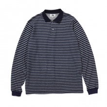 GOODENOUGH / グッドイナフ | L/S POLO SHIRT - Navy / Grey