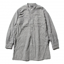 【Point 10% 9/29まで】ENGINEERED GARMENTS | Banded Collar Long Shirt - Solid Flannel - H.Grey