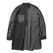 【Point 10% 9/29まで】ENGINEERED GARMENTS | Banded Collar Long Shirt - Big HB St. - Grey