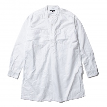 【Point 10% 9/29まで】ENGINEERED GARMENTS | Banded Collar Long Shirt - Cotton Oxford - White