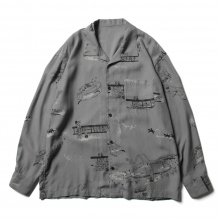Porter Classic / ポータークラシック | ALOHA LONG SHIRT SERGIO LEONE - Gray