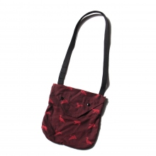 ENGINEERED GARMENTS / エンジニアドガーメンツ | Shoulder Pouch - Game Animal Jacquard - Black / Red ☆