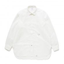 BEDWIN / ベドウィン | L/S ORGANIC COTTON BROAD SHIRT 「BRYCE」 - White / 安全ピンプリント