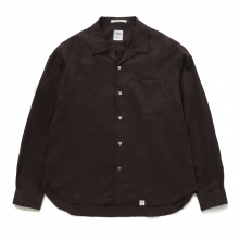 BEDWIN / ベドウィン | L/S OPEN COLLAR SHIRT 「AARON」 - Brown