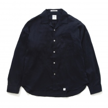 BEDWIN / ベドウィン | L/S OPEN COLLAR SHIRT 「AARON」 - Navy