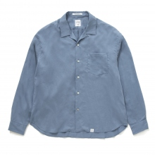 BEDWIN / ベドウィン | L/S OPEN COLLAR SHIRT 「AARON」 - S.Blue