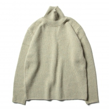AURALEE / オーラリー | CAMEL WOOL MIX KNIT TURTLE NECK P/O - Mix Green