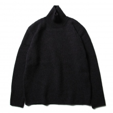 AURALEE / オーラリー | CAMEL WOOL MIX KNIT TURTLE NECK P/O - Mix Black