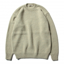 AURALEE / オーラリー | CAMEL WOOL MIX KNIT P/O - Mix Green