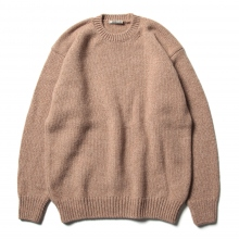 AURALEE / オーラリー | CAMEL WOOL MIX KNIT P/O - Mix Pink