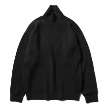 AURALEE / オーラリー | SUPER FINE WOOL RIB KNIT TURTLE NECK P/O - Top Charcoal