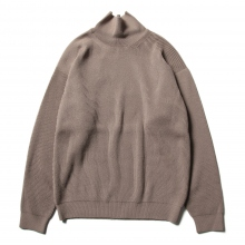 AURALEE / オーラリー | SUPER FINE WOOL RIB KNIT TURTLE NECK P/O - Light Brown
