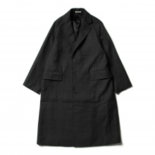 AURALEE / オーラリー | BLUEFACED WOOL DOUBLE CLOTH CHESTERFIELD COAT - Mix Charcoal