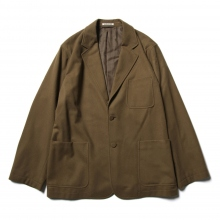 AURALEE / オーラリー | SUPER SOFT WOOL FLANNEL JACKET - Khaki Olive