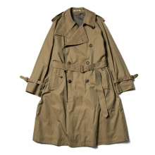 AURALEE / オーラリー | FINX CHAMBRAY BIG TRENCH COAT - Beige Chambray