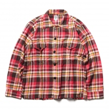 South2 West8 / サウスツーウエストエイト | Smokey Shirt - Cotton Twill / Plaid - Red