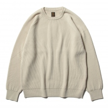 BATONER / バトナー | HARD TWIST WOOL CREW NECK (メンズ) - Ivory