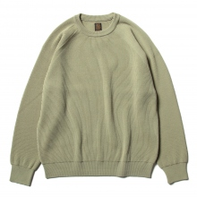 BATONER / バトナー | HARD TWIST WOOL CREW NECK (メンズ) - Khaki Yellow