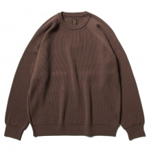 BATONER / バトナー | HARD TWIST WOOL CREW NECK (メンズ) - Pink Brown