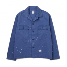 BEDWIN / ベドウィン | L/S MILITARY SHIRT JACKET 「CLIFF」 - Blue