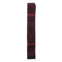 ENGINEERED GARMENTS / エンジニアドガーメンツ | Knit Tie - Ethnic Jacquard - Black / Red