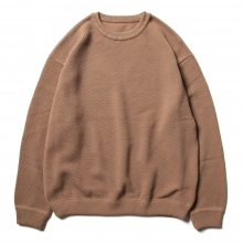 crepuscule / クレプスキュール | Moss stitch L/S sweat - Light.Brown