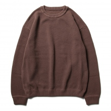 crepuscule / クレプスキュール | Moss stitch L/S sweat - Brown