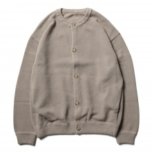 crepuscule / クレプスキュール | Moss stitch crew cardigan - Gray