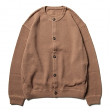 crepuscule / クレプスキュール | Moss stitch crew cardigan - Light.Brown