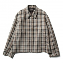 AURALEE / オーラリー | DOUBLE FACE CHECK ZIP BLOUSON - Brown Check