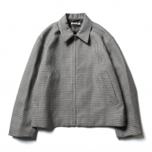AURALEE / オーラリー | DOUBLE FACE CHECK ZIP BLOUSON - Light Blue Gunclub Check
