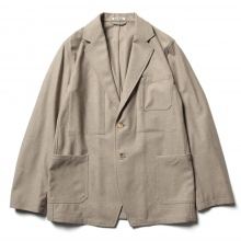 AURALEE / オーラリー | WOOL FULLING FLANNEL JACKET - Top Beige