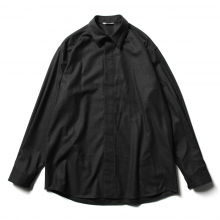 AURALEE / オーラリー | WOOL FULLING FLANNEL CLOTH SHIRTS - Top Charcoal