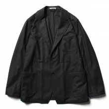 AURALEE / オーラリー | WOOL FULLING FLANNEL JACKET - Top Charcoal