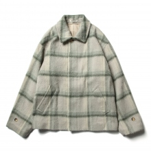 AURALEE / オーラリー | SURI ALPACA SHAGGY CHECK BLOUSON - Gray Green Check