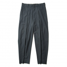 URU / ウル | COTTON GABARDINE / INVERTED PLEATS PANTS - S.Green