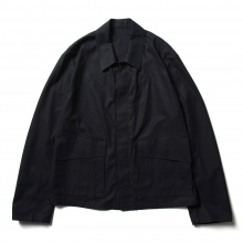 URU / ウル | COTTON GABARDINE / FLY FRONT BLOUSON - Navy