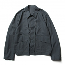 URU / ウル | COTTON GABARDINE / FLY FRONT BLOUSON - S.Green