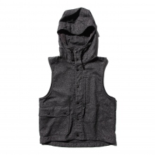 【Point 10% 9/29まで】ENGINEERED GARMENTS | Field Vest - Wool Homespun - Charcoal