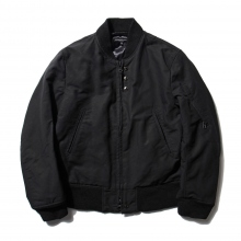 ENGINEERED GARMENTS | Aviator Jacket - Cotton Double Cloth - Black