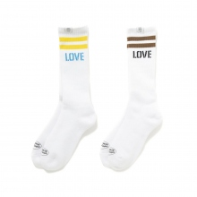 BEDWIN / ベドウィン | 2 Pcs PACK JACQUARD SOCKS 「LARRY」 - Yellow x Brown