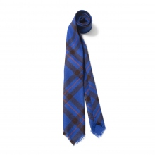 BEDWIN / ベドウィン | CHECKED WOOL TIE 「DENNIS」 - Blue