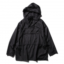AURALEE / オーラリー | POLYESTER SILK HIGH COUNT CLOTH PULLOVER HOODIE - Black