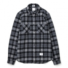 BEDWIN / ベドウィン | L/S SHAGGY WOOL CHECK SHIRT 「ROSIE」 - Gray