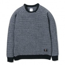 BEDWIN / ベドウィン | C-NECK POPCORN SWEATER 「LEIGH」 - Black