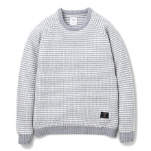 BEDWIN / ベドウィン | C-NECK POPCORN SWEATER 「LEIGH」 - Gray