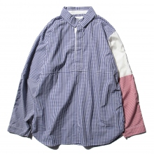 ....... RESEARCH | Cricket Shirt - Gingham Check - Navy